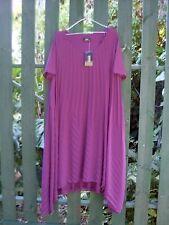 RRP $130 BNWT SARA FASHION (Sz 16) PLUM PLEAT DRESS w/DRAPED HANKY HEM Fashion