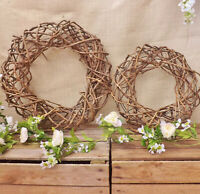 Large Deep Natural Rattan Round Wreath Home Wedding Easter Christmas Decoration