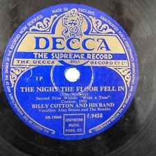 78rpm BILLY COTTON the night the floor fell in / two on a tandem , DECCA F 9458