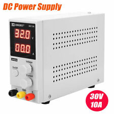 30V 10A Adjustable DC Power Supply 0.01APrecision Variable Digital Lab Test 110V