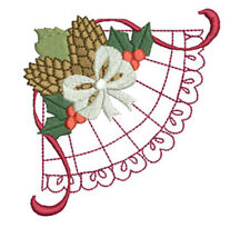 CHRISTMAS LACE CORNERS -  20 MACHINE EMBROIDERY DESIGNS