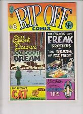 Rip Off Comix #6 VF- (1st) print freak brothers GILBERT SHELTON fat freddy cat