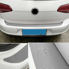 NEW SUV Car Trunk Sill Scuff Cover Rear Bumper Edge Trim Protector Matte Silver