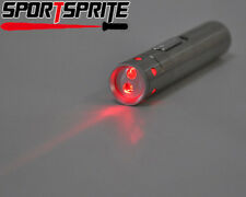 Tactical 2 in 1 small Red Laser Pointer Keychain LED Flashlight Pocket Torch
