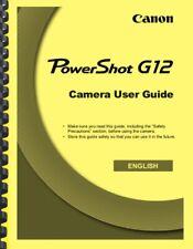 Canon Powershot G12 Camera User Guide Owner's Manual