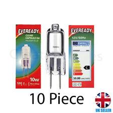 10Pcs G4 Eveready Halogen Capsule Light Bulbs Replace LED Lamp 12V 10W UK