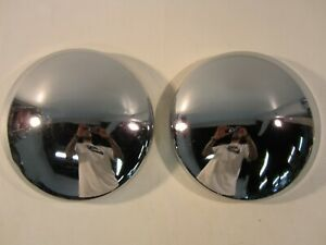 """Vintage 1950's-1960's Baby Moon Hubcaps 10"""" CUSTOM Dodge Chevy Ford Trailer"""