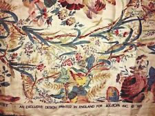 Lee Jofa Linen remnants   WINCHESTER Bouquet Print fabric