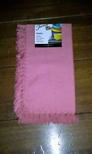 FIESTA napkin FRINGE DETAIL flamingo pink NEW 100% Cotton