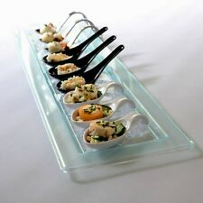Glass Effect Rectangular Serving Platter: Stylish Party Tableware
