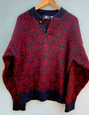Lobo by Pendleton Large Men's Sweater Mens Fair Isle Pullover Blue Cranberry