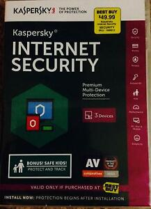 NEW AND SEALED! Kaspersky Internet Security multi device 2016