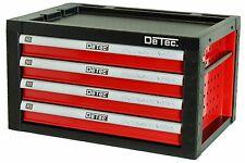 Werkzeugwagen Werkstattwagen Aufsatz Werkzeugkiste leer  Werkzeugbox Toolbox rot