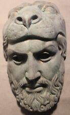 Rare Alexander The Great Lion Apollo Greek Roman Mask Copper Bronze Gilded