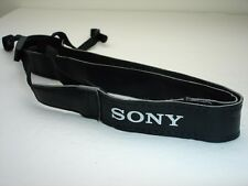 "SONY A , Alpha camera strap , White logo on Black   7/8"" wide  #001915"