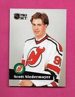 1991-92 PRO SET  # CC4 DEVILS SCOTT NIEDERMAYER SHORT PRINT INSERT (INV# D1111)