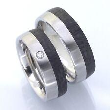 Edelstahl Carbon Trauringe   Eheringe  Verlobungsringe Edelstahl Carbon P3233491