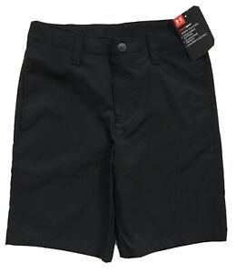 UNDER ARMOUR Boys Golf Shorts HeatGear Casual Dress School Black NWT $30 SIZE 4