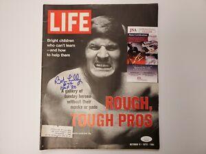 Bob Lilly Signed Life Magazine (Oct. 6 1972) JSA Certified Autograph #74 HOF '80