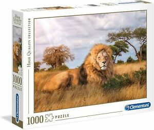 CLEMENTONI LION Jigsaw Puzzle 1000 pieces The King Africa **NEW** FREE UK P&P