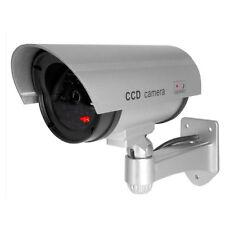 Kamera Dummy Überwachungskamera Attrappe Alarmanlage Camera Fälschung silber HY