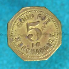 GOOD FOR 5 CENTS IN MERCH - BRASS TOKEN ASI