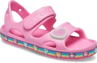 Crocs Kids Crocs Fun Lab Rainbow Sandal Pink Lemonade