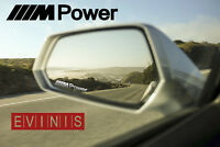 BMW M POWER SILVER SMALL SYMBOL MIRROR DECALS STICKERS GRAPHICS x3