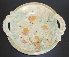 "BESWICK Victorian Look circa 30's Art Nouveau Flowers Serving Dish 11"" Wide 2"" D"
