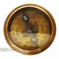 Brass Compass Anchor  Brass Antique Ship World Timer Marine Calendar Item