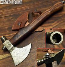 LOUIS MARTIN CUSTOM DAMASCUS STEEL ART PIPE TOMAHAWK KNIFE,HATCHET, AXE,INTEGRAL