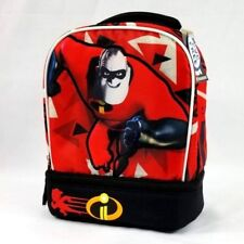 1605f881743 Incredibles 2 Lunch Box Tote Mr. Incredible Insulated Ice Pack Pocket Red  Black