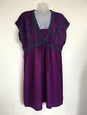 Lovely purple Embroidered tunic dress from George size Large