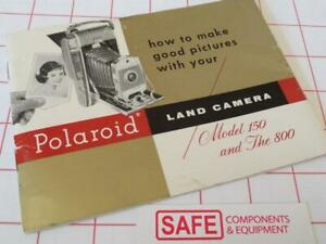 Polaroid Land Camera Model 150 & 800 Instruction Make Good Pictures Guide MM-536