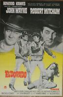 EL DORADO original vintage 1966 film poster from Finland John Wayne Robt Mitchum