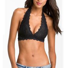 Women Sexy Crochet Lace Bralette Bra Boho Beach Bikini Halter Cami Tank Crop Top