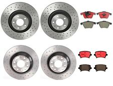 Front Rear Brembo Brake Kit Drilled Disc Rotors Ceramic Pads For Audi A6 Quattro