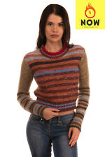 RRP €530 RED VALENTINO Jumper Size XS Mohair Wool Cashmere & Silk Blend Striped