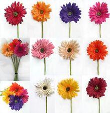 Extra Large Head Silk Gerbera Daisy Artificial  Flower Stem Flowers Many Colours