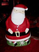 CERAMIC SANTA COOKIE JAR, CHRISTMAS, HOLIDAY