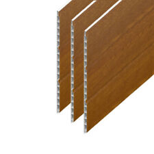 Hollow Cladding Soffit Board Golden Oak UPVC Plastic 300mm x 5m Tongue & Groove