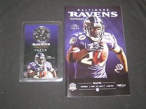 Ed Reed Baltimore Ravens Game Day Program & Smyth Ring of Honor Coin        DE6