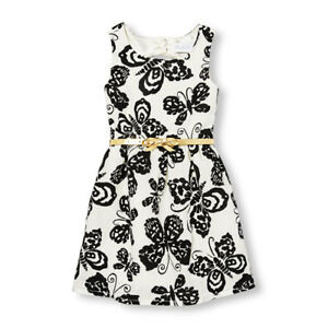 The Children's Place Sleeveless Belted Butterfly Cutout Dress Sz 5 NWT RTL $40