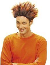Short Spikey Orange Mens Wig Sports Holland Football Rugby Punk Rocker Fancy Dre