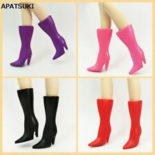 4 Colors Fashion High Heel Shoes For 11.5inch Doll Long Boots For 1/6 Dollhouse