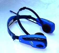 GPX Sports AM/FM Radio Blue Stereo Headphones BLUE - TESTED AND WORKS