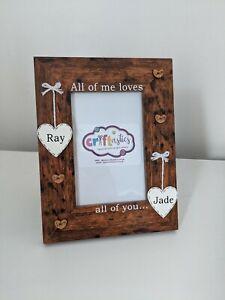 Personalised 4x6 picture photo frame valentine birthday christmas boyfriend gift
