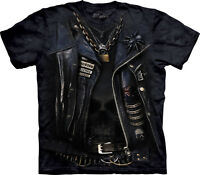 The Mountain Funnelweb Biker Leather Jacket Motorcycle Mouse Spider Shirt 104201