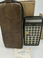Vintage HP 41CV Scientific Programmable Calculator with Manual and Case. Tested