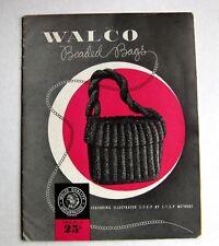 Rare 1948 How to Make Beaded Handbag Purse Patterns